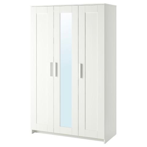 Шкаф платяной 3-дверный БРИМНЭС белый артикуль № 003.697.81 в наличии. Online магазин IKEA Беларусь. Недорогая доставка и монтаж.
