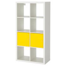Стеллаж с 2 вставками КАЛЛАКС белый/желтый артикуль № 692.268.98 в наличии. Online каталог IKEA РБ. Быстрая доставка и соборка.