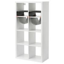 Стеллаж с 4 вставками КАЛЛАКС белый артикуль № 192.269.28 в наличии. Интернет сайт IKEA Беларусь. Быстрая доставка и монтаж.