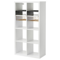 Стеллаж с 4 вставками КАЛЛАКС белый артикуль № 792.269.30 в наличии. Онлайн сайт IKEA Республика Беларусь. Быстрая доставка и монтаж.