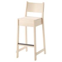 Стул барный НОРРОКЕР белый артикуль № 603.605.27 в наличии. Онлайн магазин IKEA Минск. Быстрая доставка и монтаж.