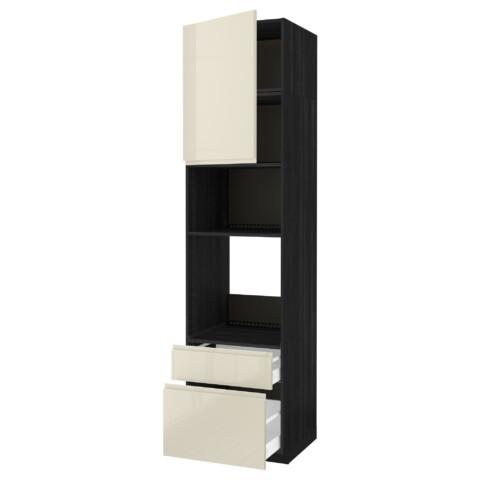 Высокий шкаф для духовки/СВЧ дверца, 2 ящика МЕТОД / МАКСИМЕРА черный артикуль № 391.683.62 в наличии. Онлайн каталог IKEA Минск. Недорогая доставка и установка.