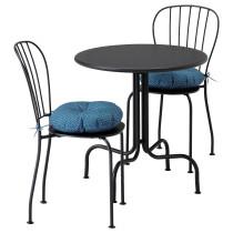 Стол + 2 стула, для сада ЛЭККЭ синий артикуль № 791.835.44 в наличии. Интернет каталог ИКЕА Минск. Недорогая доставка и установка.