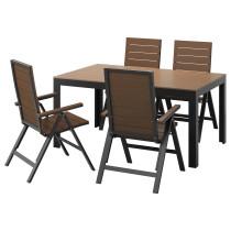 Стол + 4 кресла, для сада ФАЛЬСТЕР черный артикуль № 491.659.33 в наличии. Онлайн сайт IKEA Беларусь. Недорогая доставка и соборка.