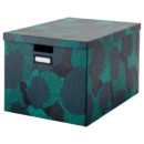 Коробка с крышкой ТЬЕНА, черно-синий (50x35x30 см)