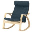 Кресло-качалка ПОЭНГ, березовый шпон, Хилларед темно-синий
