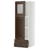 Навесной шкаф, дверцы, стеклянные дверцы, 2 ящика МЕТОД / МАКСИМЕРА белый артикуль № 391.091.60 в наличии. Онлайн каталог IKEA Беларусь. Быстрая доставка и соборка.