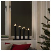 Светодиодный канделябр, 4 лампы СТРОЛА черный артикуль № 403.668.51 в наличии. Интернет каталог IKEA Минск. Быстрая доставка и соборка.