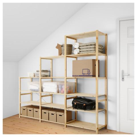 3 секции, полки ИВАР артикуль № 892.304.89 в наличии. Онлайн каталог IKEA РБ. Быстрая доставка и установка.