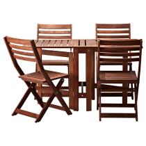 Стол + 4 складных стула, для сада ЭПЛАРО артикуль № 492.289.40 в наличии. Интернет сайт IKEA Беларусь. Недорогая доставка и соборка.