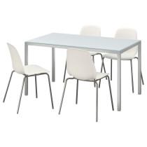 Стол и 4 стула ТОРСБИ / ЛЕЙФ-АРНЕ белый артикуль № 292.297.85 в наличии. Онлайн сайт IKEA Республика Беларусь. Быстрая доставка и установка.