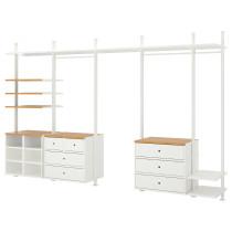 5 секций ЭЛВАРЛИ белый артикуль № 392.517.71 в наличии. Интернет магазин IKEA Беларусь. Быстрая доставка и монтаж.