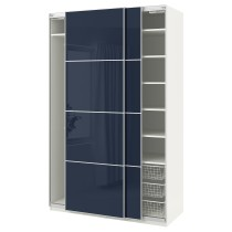 Гардероб ПАКС темно-синий артикуль № 492.191.77 в наличии. Онлайн сайт IKEA Республика Беларусь. Недорогая доставка и монтаж.