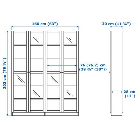 Стеллаж БИЛЛИ / ОКСБЕРГ артикуль № 192.287.48 в наличии. Онлайн каталог IKEA РБ. Быстрая доставка и установка.