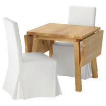 Стол и 2 стула МОККЕЛЬБЮ / ХЕНРИКСДАЛЬ белый артикуль № 092.292.44 в наличии. Онлайн каталог IKEA Минск. Быстрая доставка и установка.