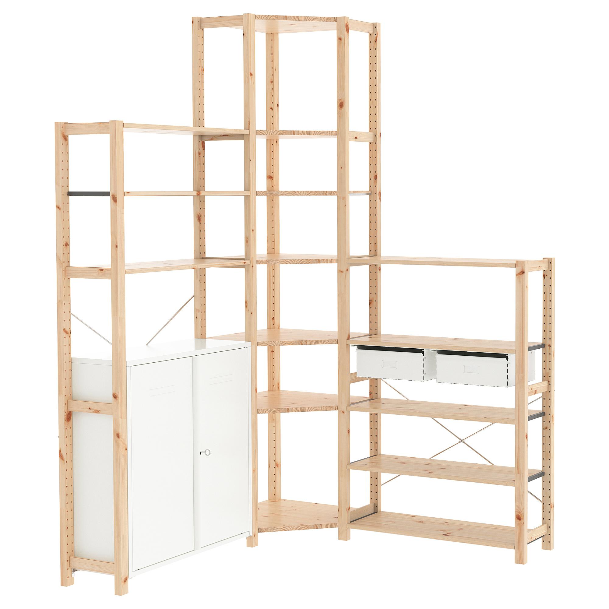 3 секции, угловой ИВАР белый артикуль № 292.499.86 в наличии. Интернет сайт IKEA РБ. Недорогая доставка и монтаж.