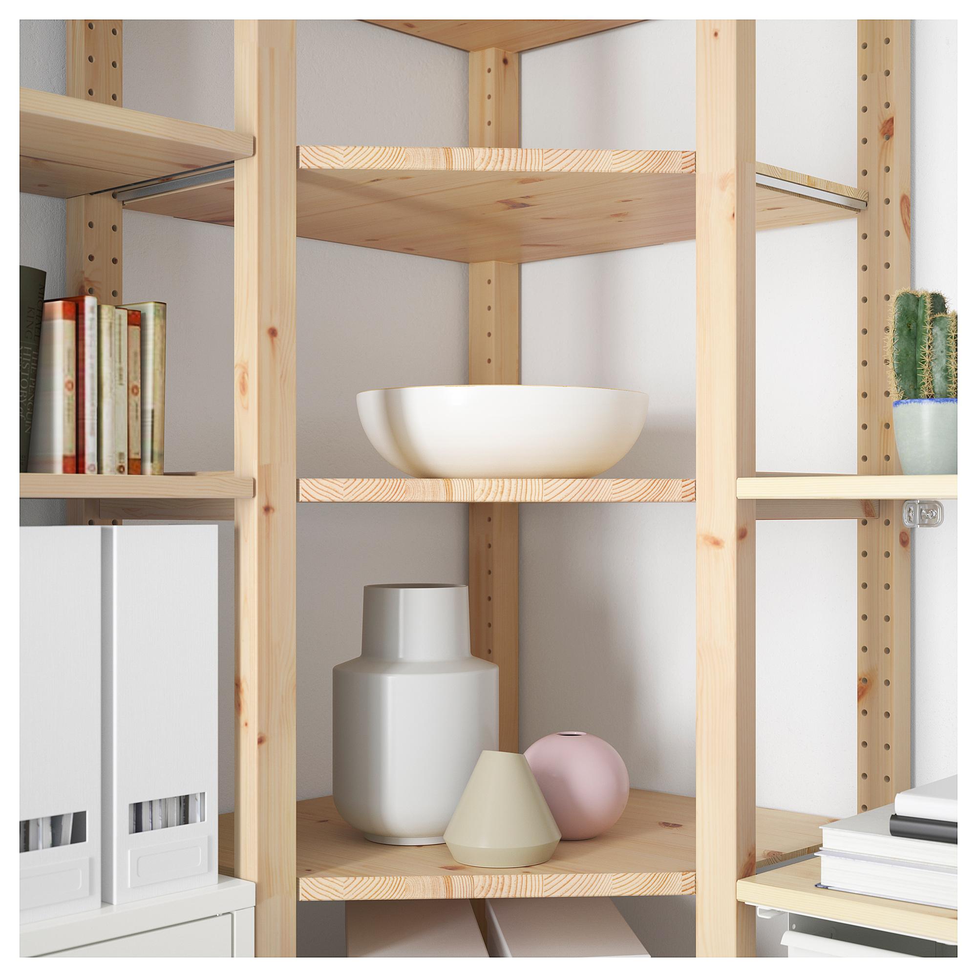 3 секции, угловой ИВАР белый артикуль № 292.499.86 в наличии. Online каталог IKEA РБ. Недорогая доставка и монтаж.