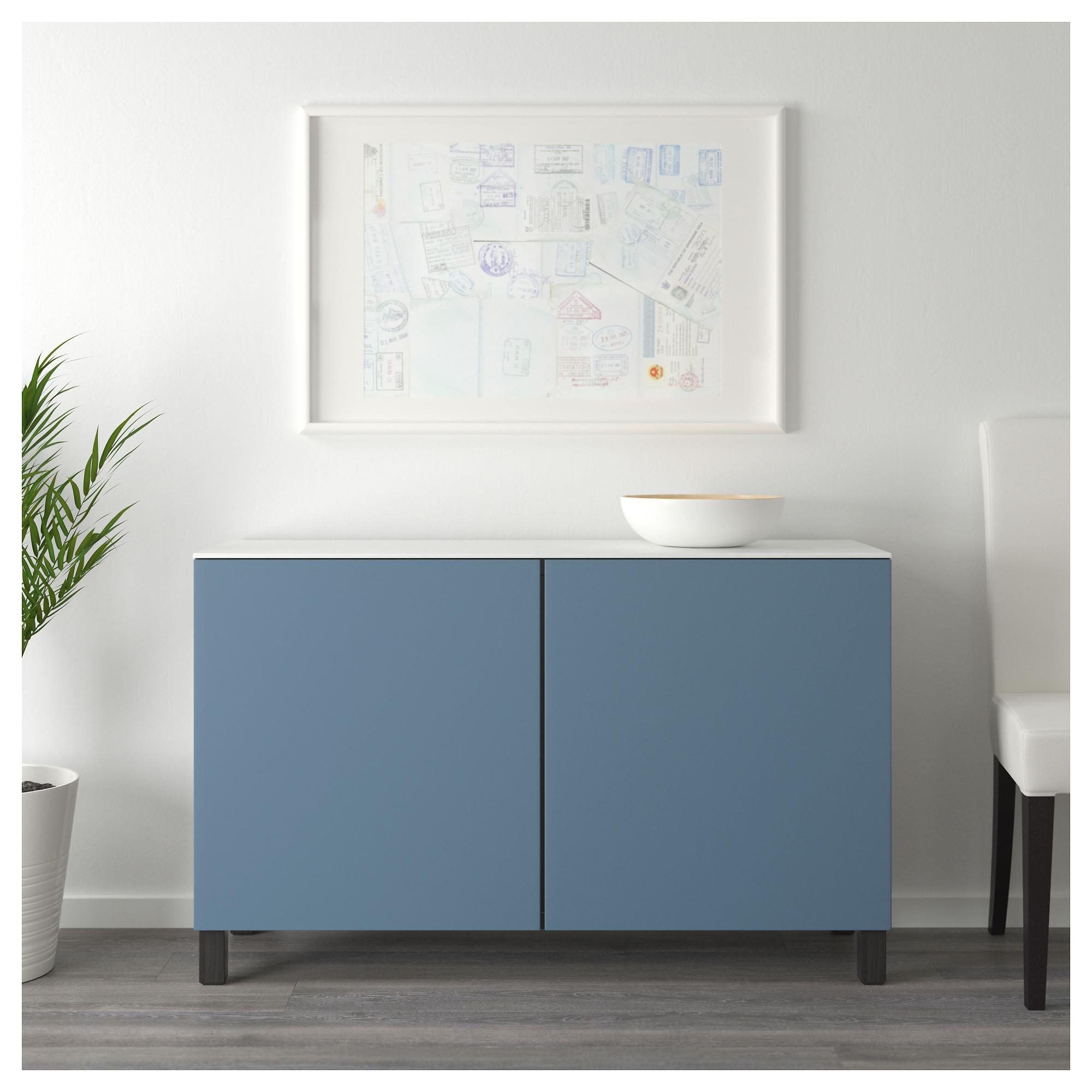 Комбинация для хранения с дверцами БЕСТО темно-синий артикуль № 092.448.62 в наличии. Online сайт IKEA Республика Беларусь. Недорогая доставка и установка.