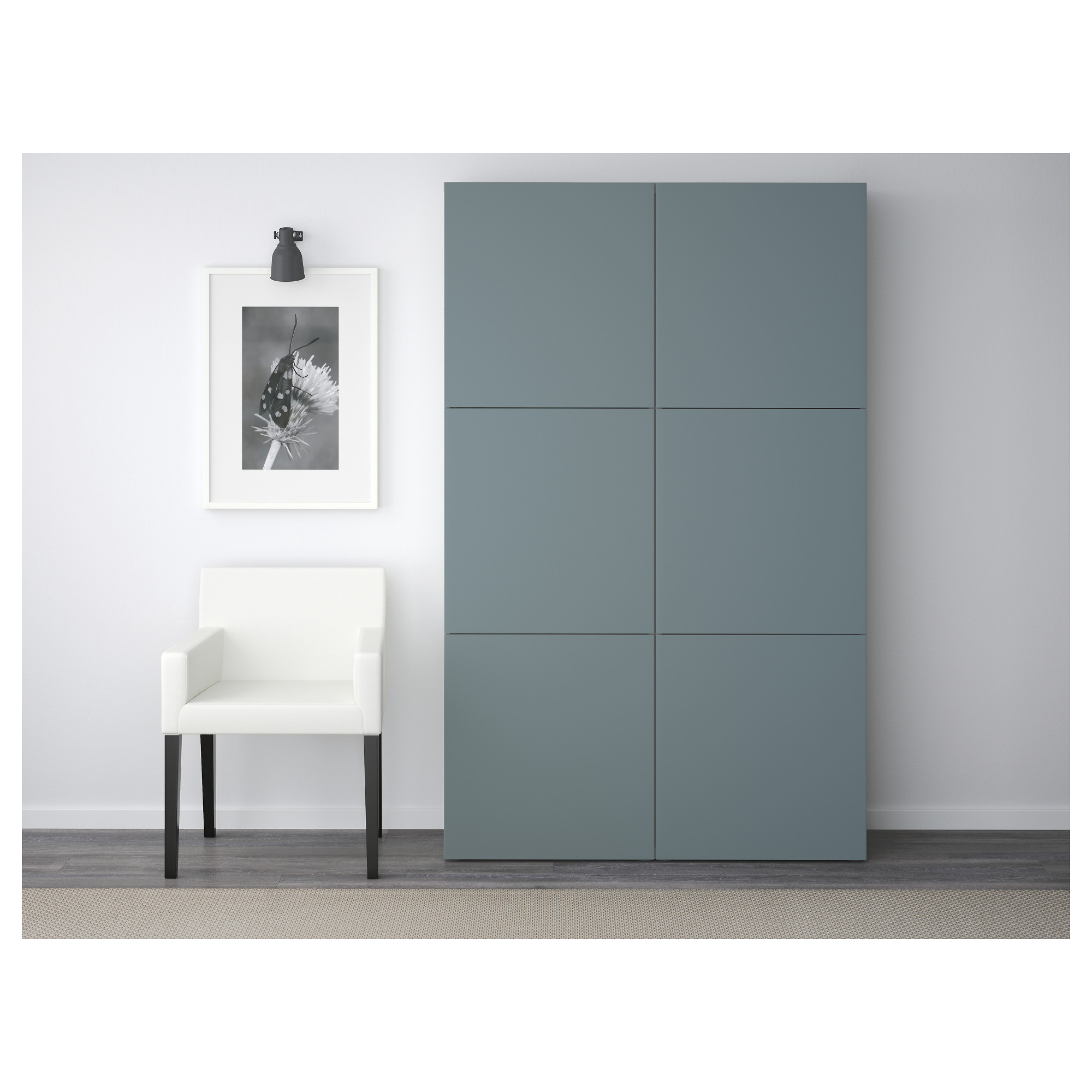 Комбинация для хранения с дверцами БЕСТО белый артикуль № 092.471.58 в наличии. Online сайт IKEA Минск. Быстрая доставка и установка.