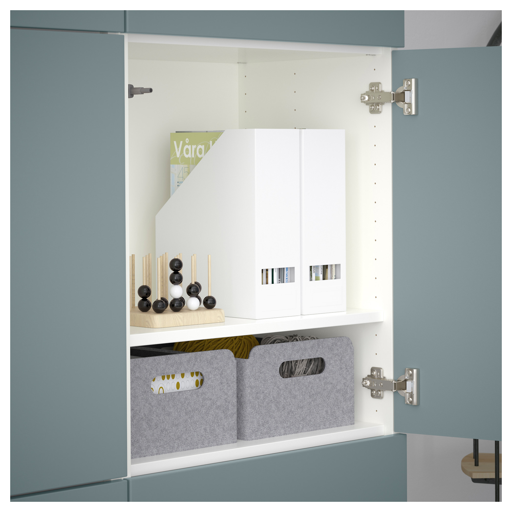 Комбинация для хранения с дверцами БЕСТО белый артикуль № 092.471.58 в наличии. Онлайн каталог IKEA Республика Беларусь. Недорогая доставка и монтаж.