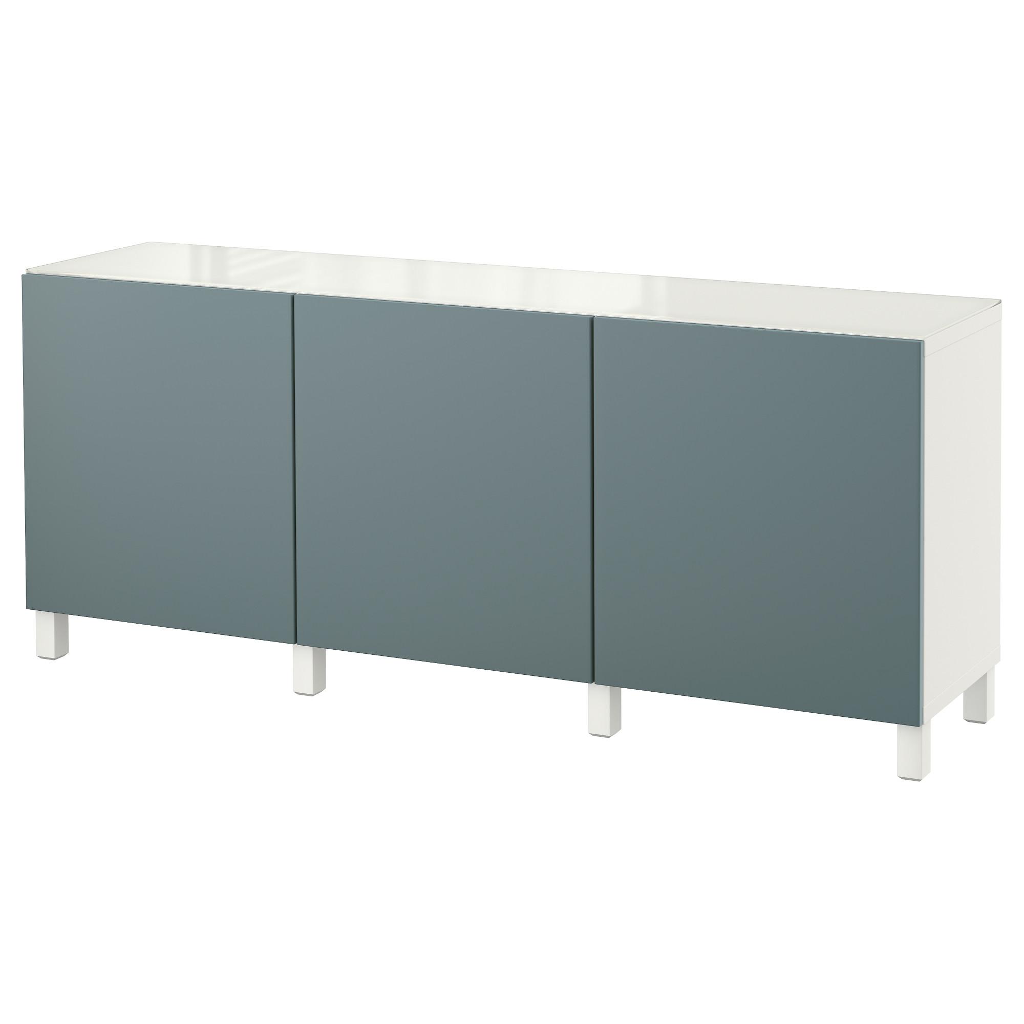 Комбинация для хранения с дверцами БЕСТО белый артикуль № 192.451.73 в наличии. Интернет магазин IKEA Беларусь. Недорогая доставка и монтаж.