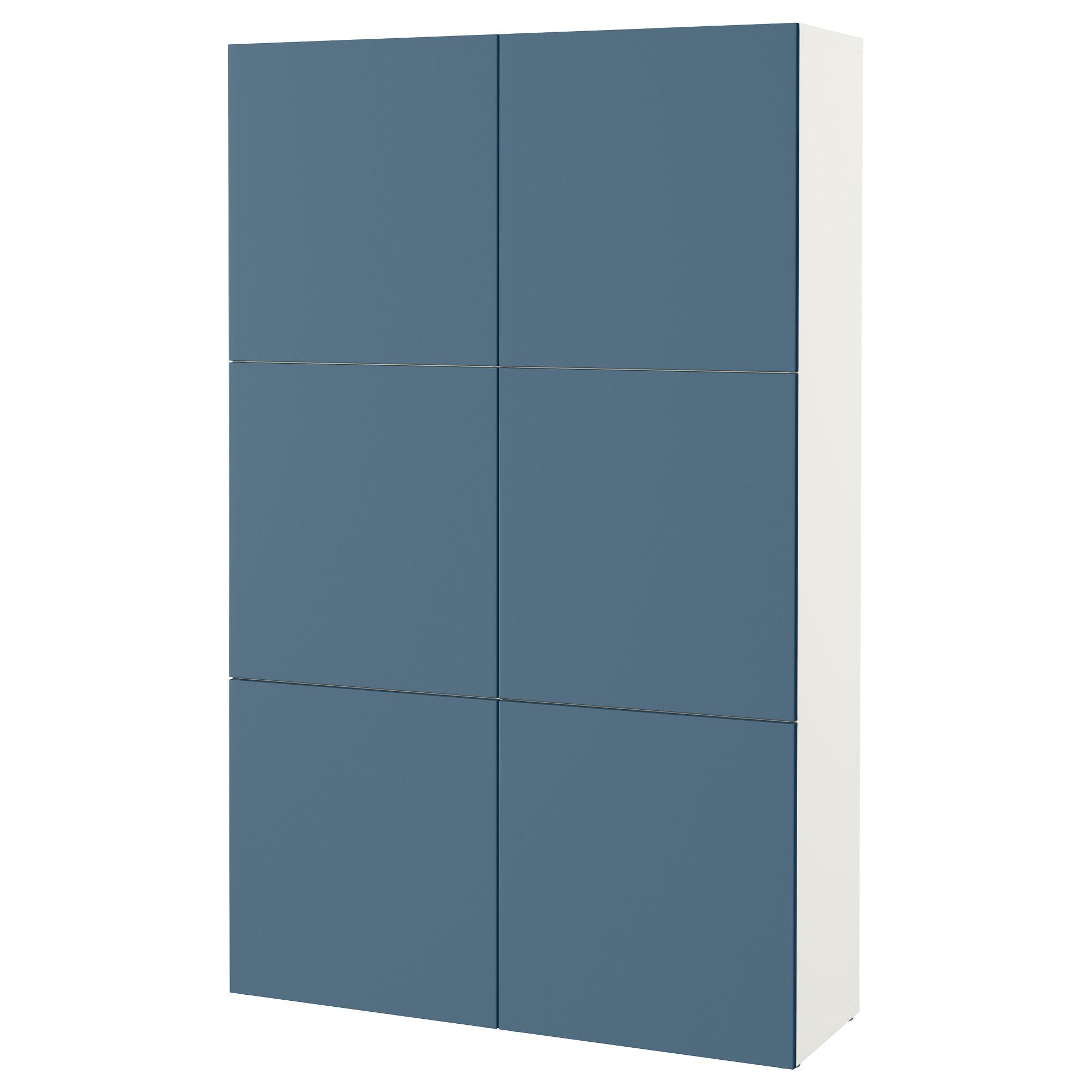 Комбинация для хранения с дверцами БЕСТО темно-синий артикуль № 292.471.57 в наличии. Online сайт IKEA РБ. Недорогая доставка и соборка.