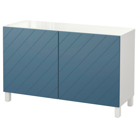Комбинация для хранения с дверцами БЕСТО темно-синий артикуль № 292.760.79 в наличии. Online каталог IKEA РБ. Быстрая доставка и монтаж.