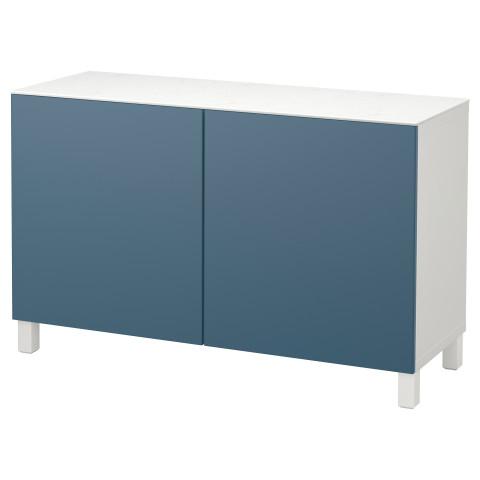 Комбинация для хранения с дверцами БЕСТО темно-синий артикуль № 392.448.70 в наличии. Онлайн магазин IKEA Беларусь. Быстрая доставка и монтаж.