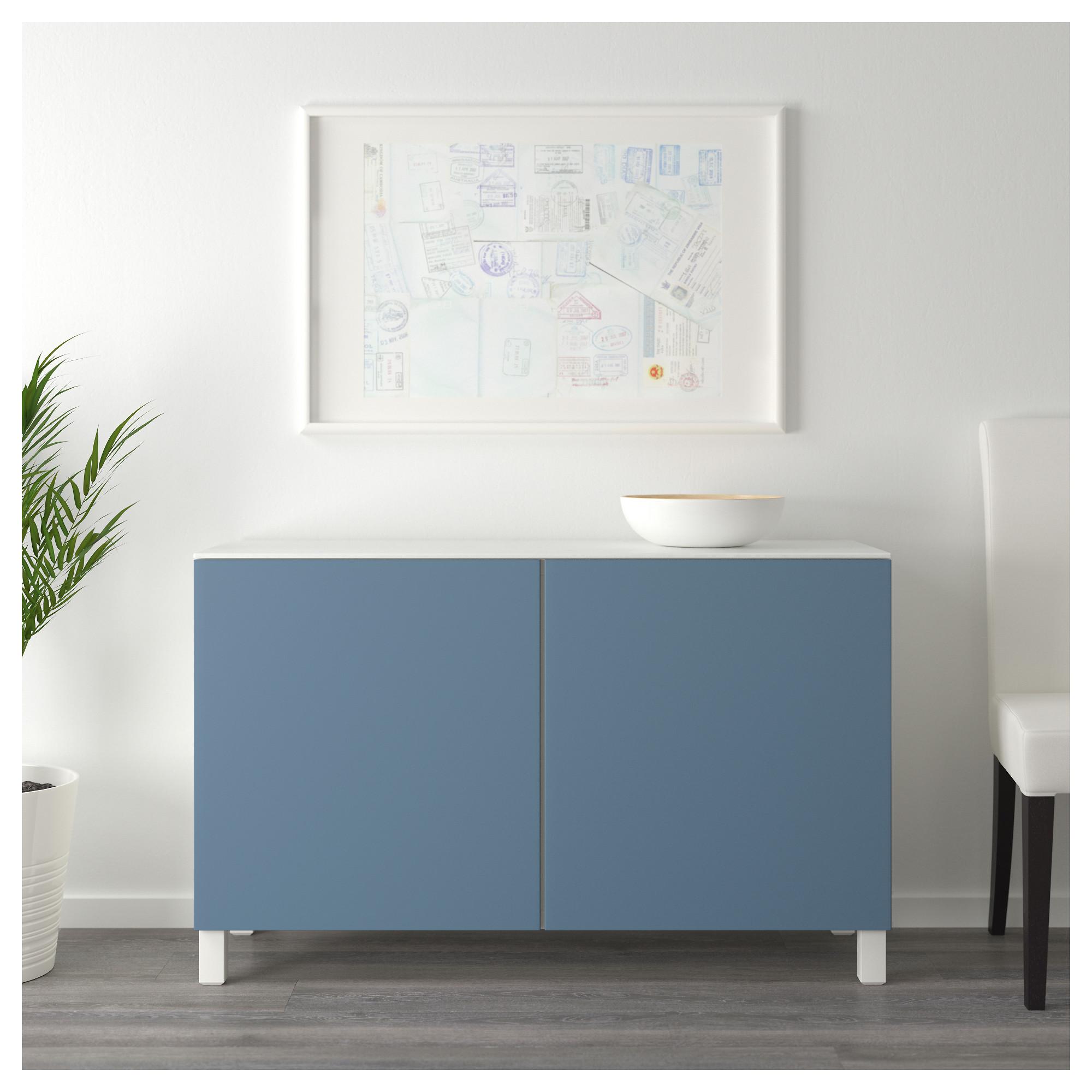 Комбинация для хранения с дверцами БЕСТО темно-синий артикуль № 392.448.70 в наличии. Интернет каталог IKEA РБ. Быстрая доставка и соборка.