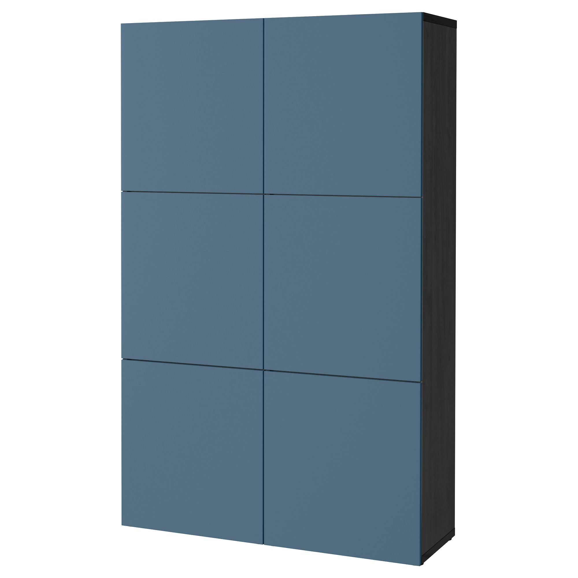 Комбинация для хранения с дверцами БЕСТО темно-синий артикуль № 392.471.47 в наличии. Онлайн магазин ИКЕА РБ. Быстрая доставка и монтаж.