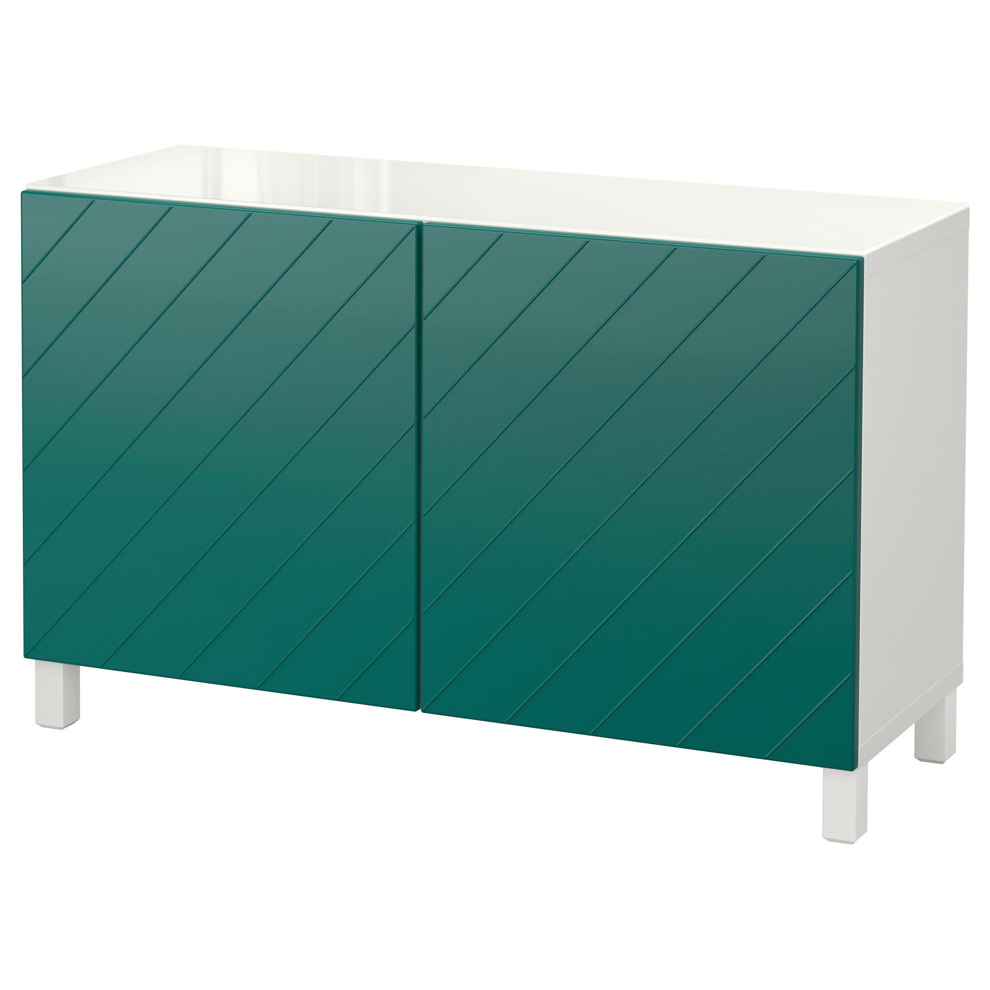 Комбинация для хранения с дверцами БЕСТО сине-зеленый артикуль № 492.760.78 в наличии. Онлайн магазин IKEA РБ. Недорогая доставка и монтаж.