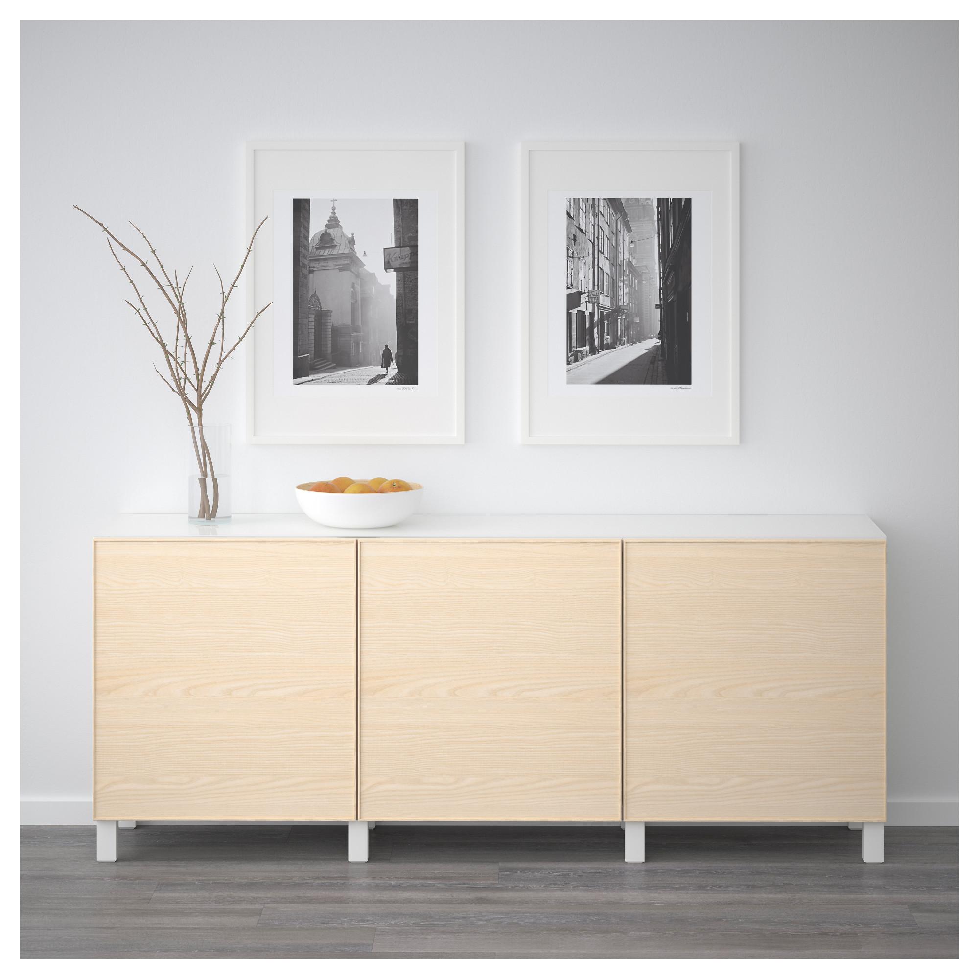 Комбинация для хранения с дверцами БЕСТО белый артикуль № 592.451.66 в наличии. Online сайт IKEA РБ. Быстрая доставка и установка.