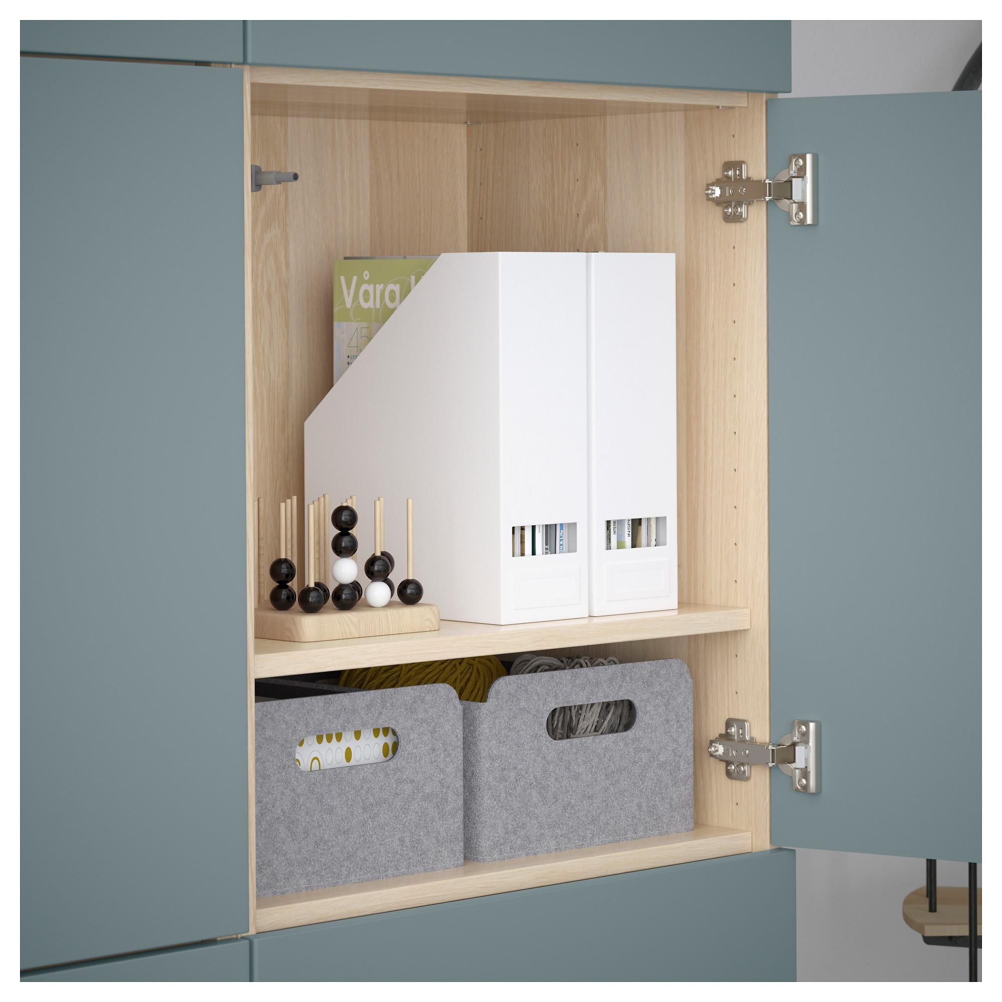 Комбинация для хранения с дверцами БЕСТО артикуль № 592.471.70 в наличии. Интернет магазин IKEA Минск. Быстрая доставка и установка.