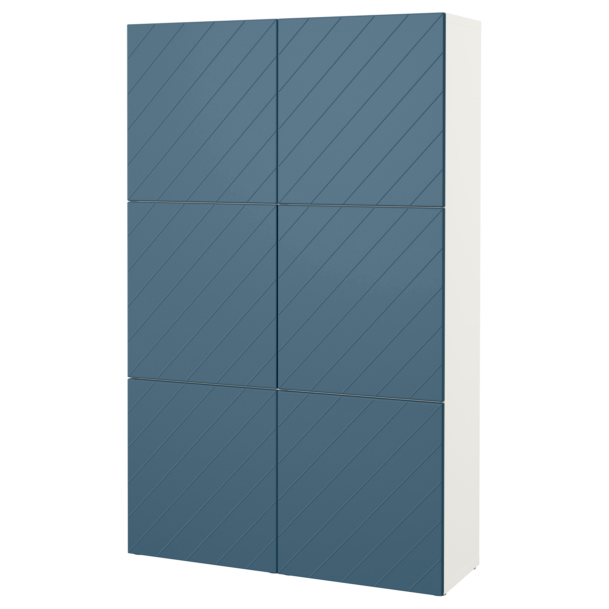 Комбинация для хранения с дверцами БЕСТО темно-синий артикуль № 592.763.65 в наличии. Интернет магазин IKEA РБ. Недорогая доставка и соборка.