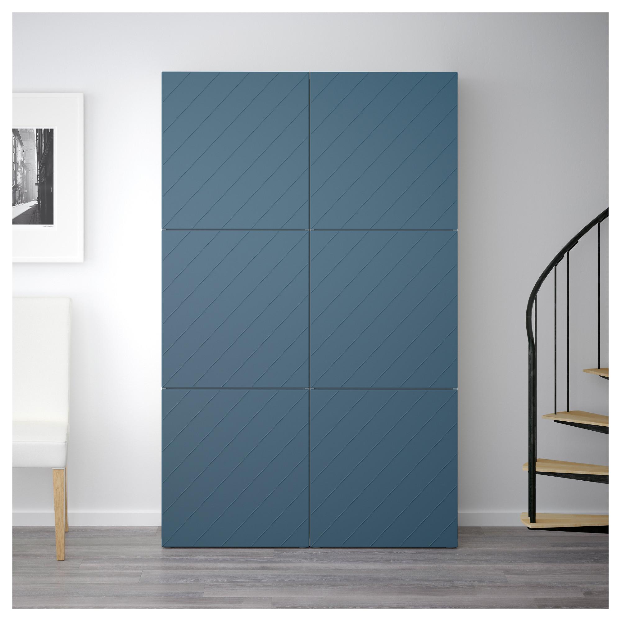 Комбинация для хранения с дверцами БЕСТО темно-синий артикуль № 592.763.65 в наличии. Онлайн магазин ИКЕА РБ. Недорогая доставка и монтаж.