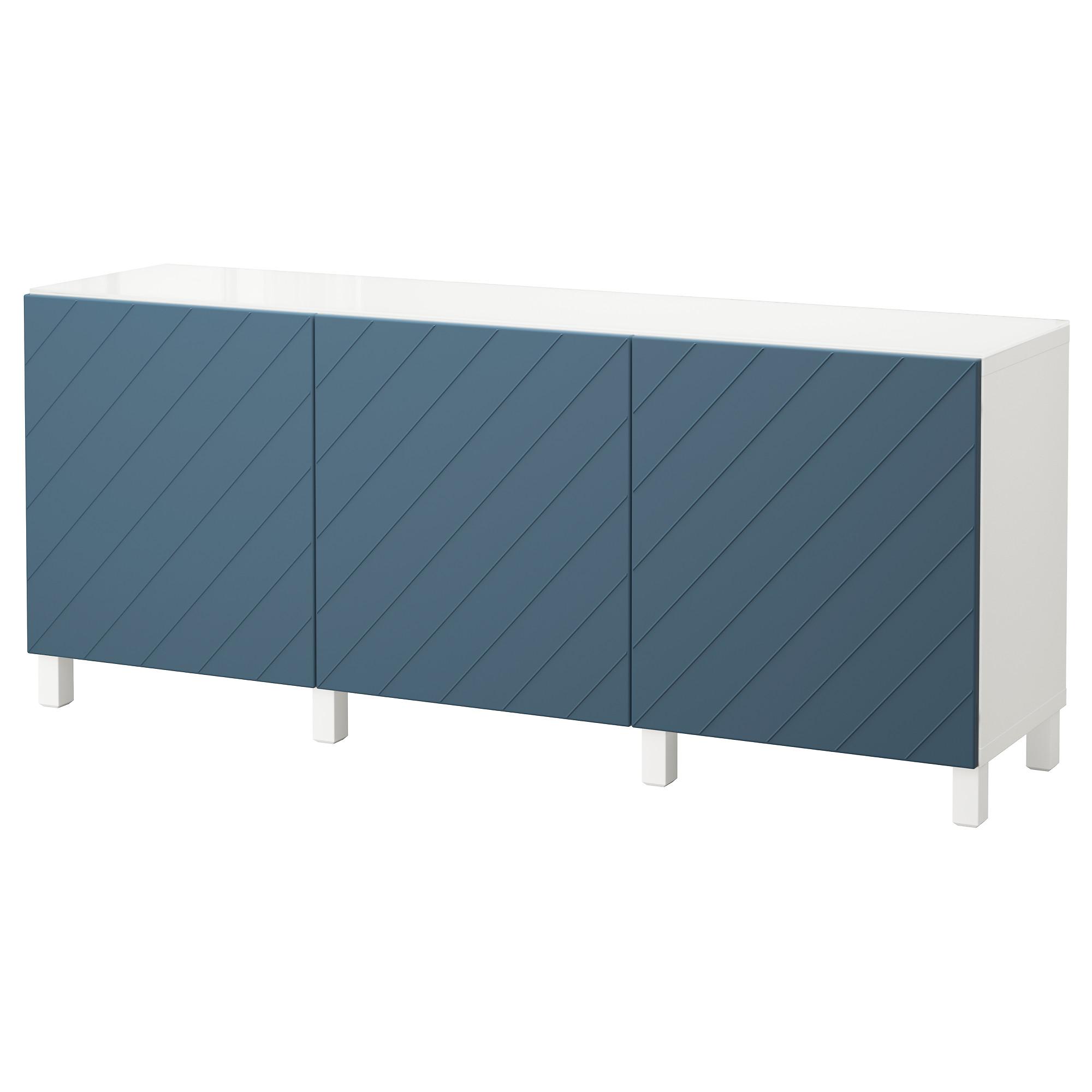 Комбинация для хранения с дверцами БЕСТО темно-синий артикуль № 792.760.67 в наличии. Online каталог IKEA Республика Беларусь. Быстрая доставка и установка.