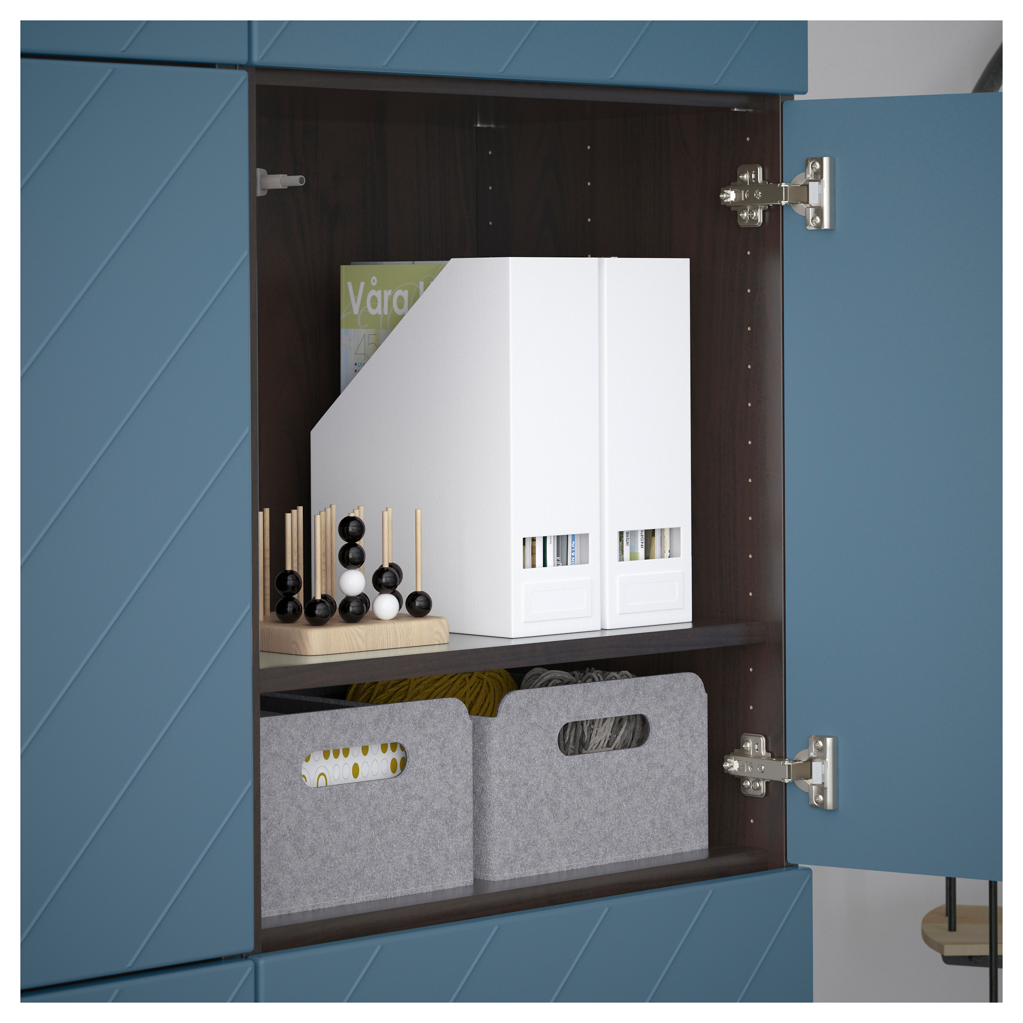Комбинация для хранения с дверцами БЕСТО темно-синий артикуль № 792.763.69 в наличии. Интернет сайт IKEA Беларусь. Недорогая доставка и соборка.