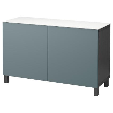 Комбинация для хранения с дверцами БЕСТО черно-коричневый артикуль № 892.448.63 в наличии. Онлайн каталог IKEA Минск. Недорогая доставка и монтаж.