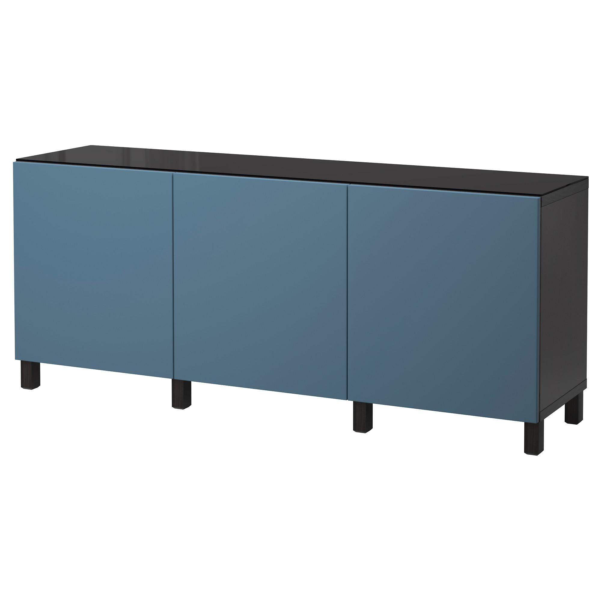 Комбинация для хранения с дверцами БЕСТО темно-синий артикуль № 892.451.60 в наличии. Интернет сайт IKEA РБ. Недорогая доставка и соборка.