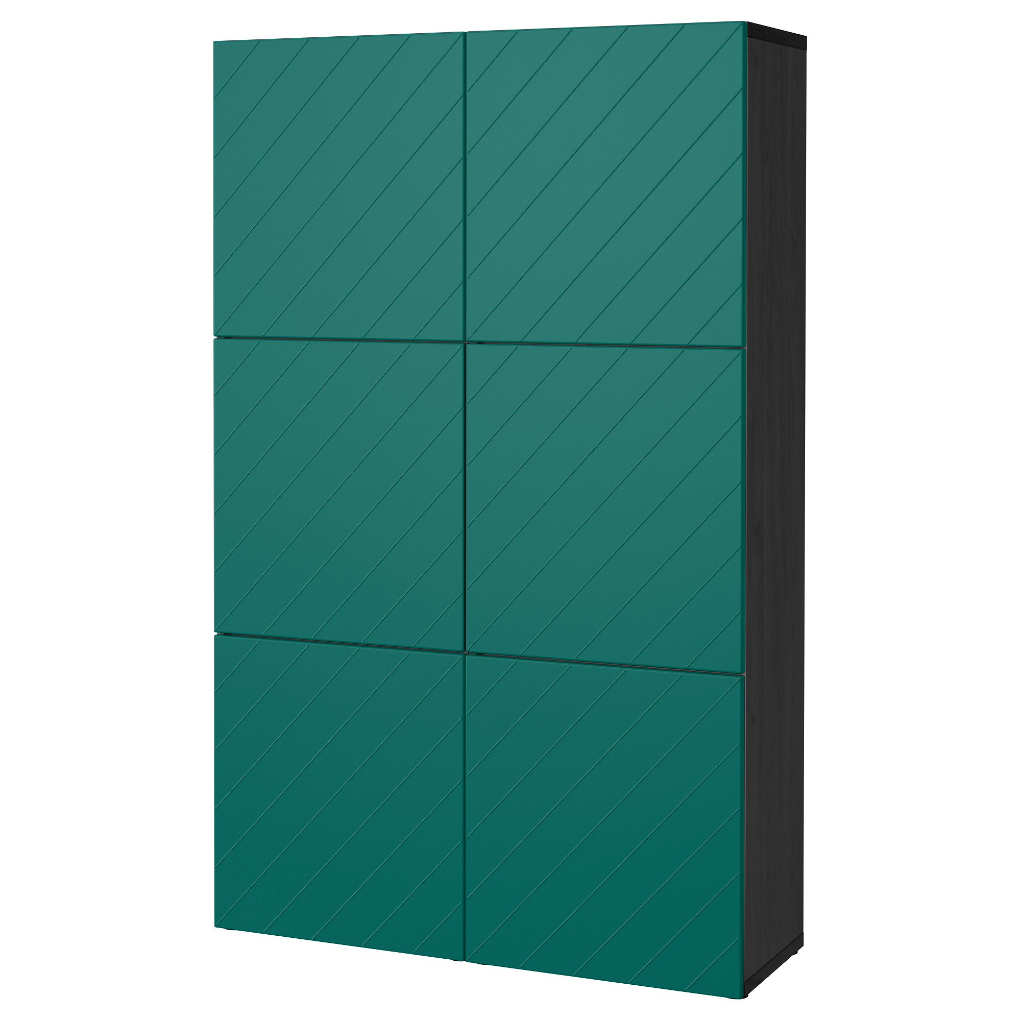 Комбинация для хранения с дверцами БЕСТО сине-зеленый артикуль № 992.763.68 в наличии. Online каталог IKEA Беларусь. Быстрая доставка и установка.