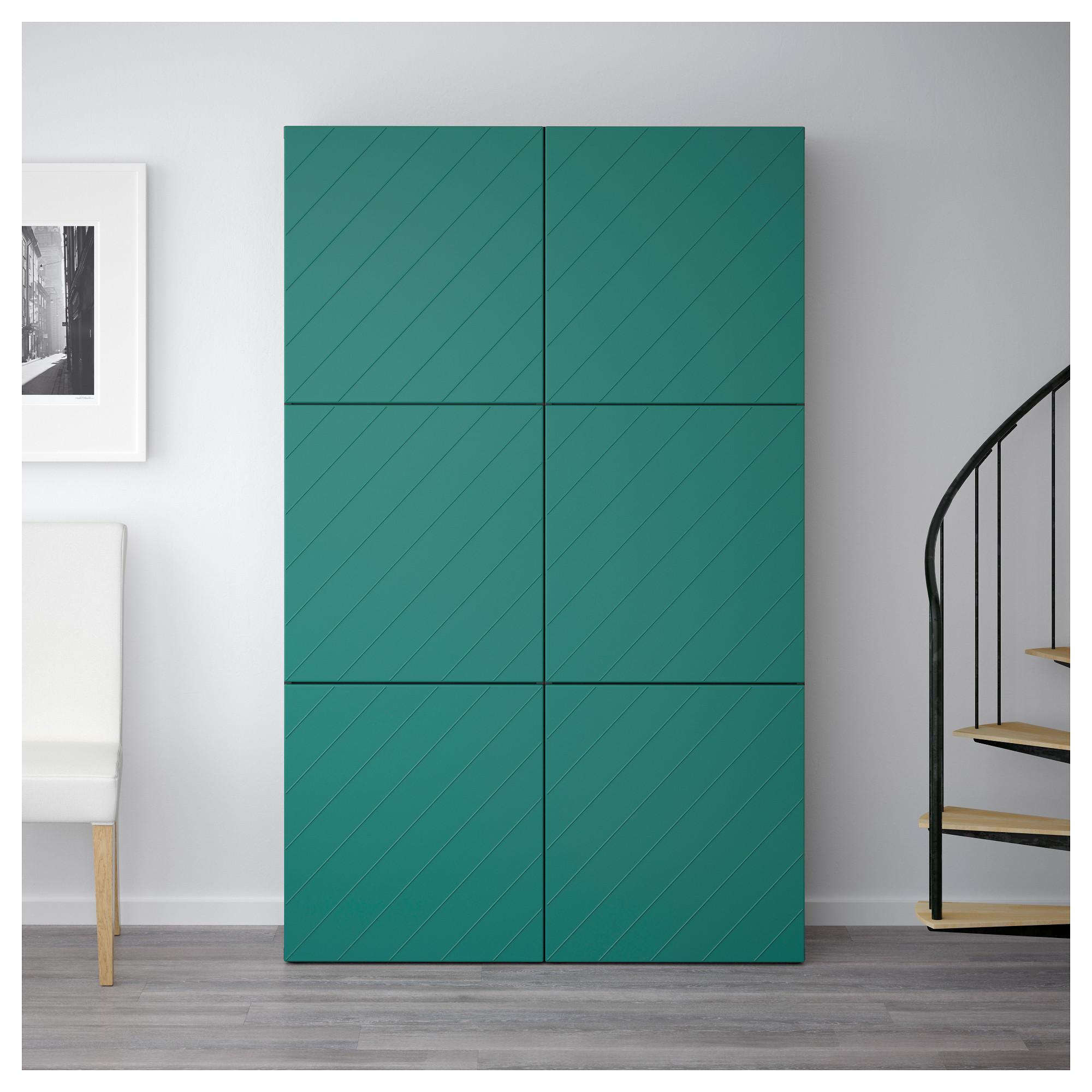 Комбинация для хранения с дверцами БЕСТО сине-зеленый артикуль № 992.763.68 в наличии. Интернет каталог IKEA Минск. Недорогая доставка и установка.