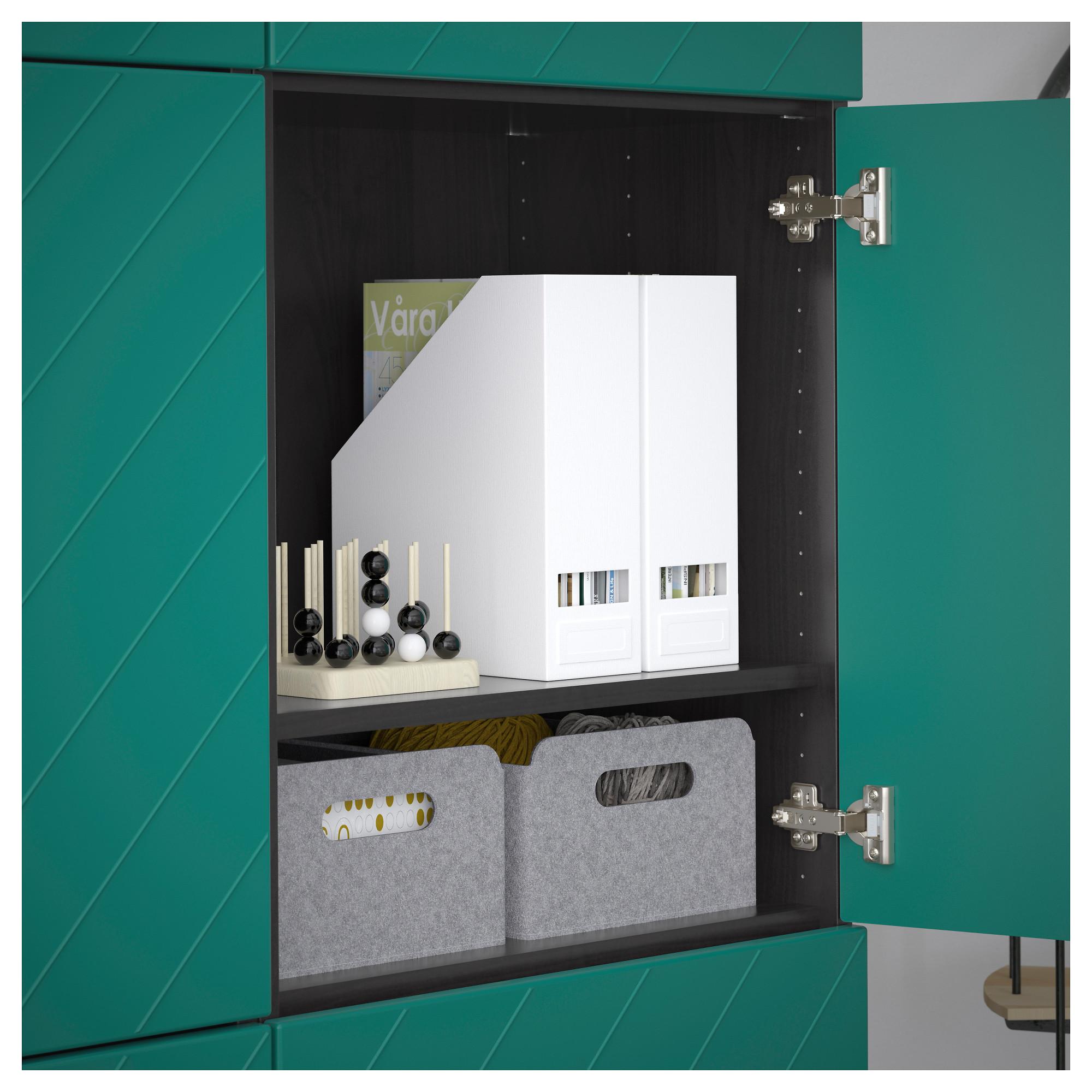 Комбинация для хранения с дверцами БЕСТО сине-зеленый артикуль № 992.763.68 в наличии. Онлайн каталог IKEA Беларусь. Недорогая доставка и монтаж.