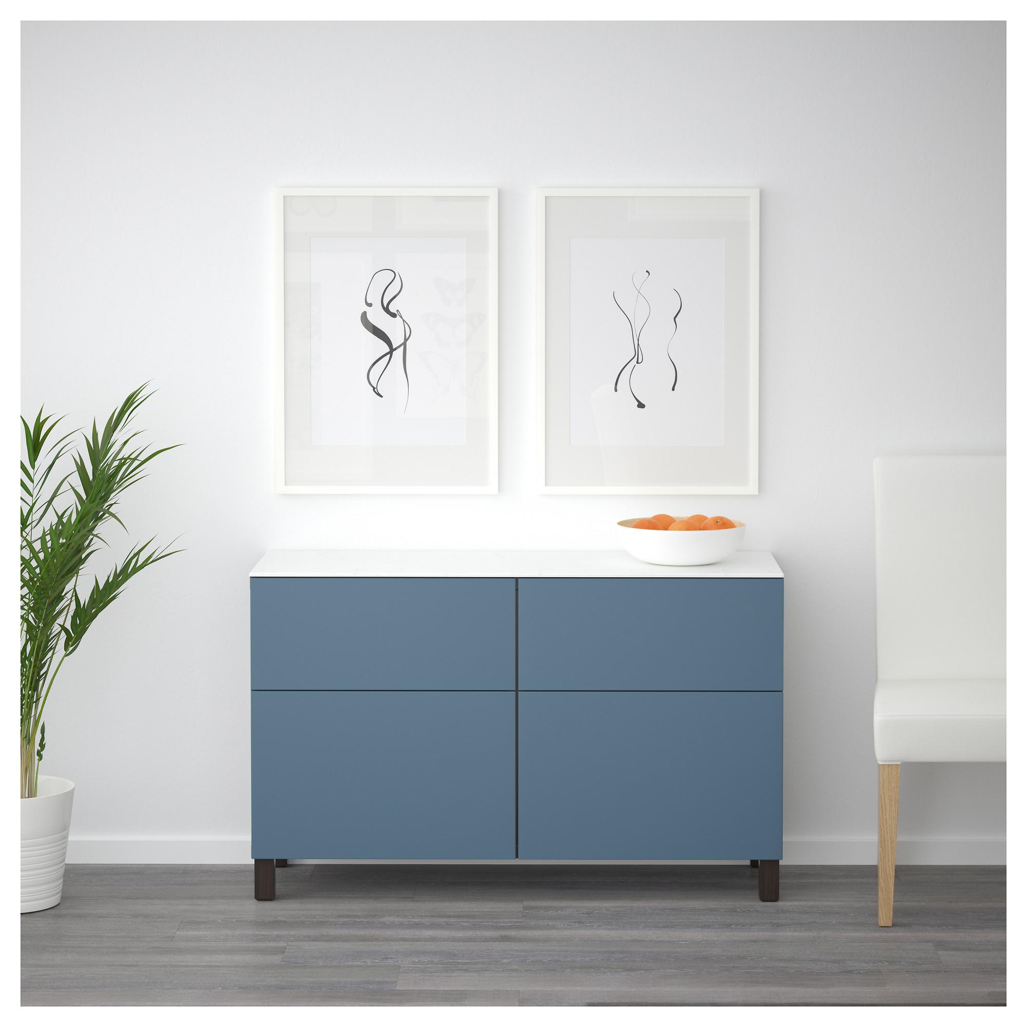 Комбинация для хранения с дверцами, ящиками БЕСТО темно-синий артикуль № 092.447.15 в наличии. Интернет магазин IKEA Беларусь. Недорогая доставка и установка.