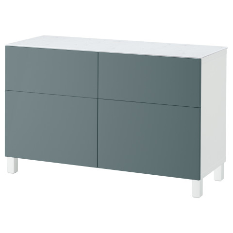 Комбинация для хранения с дверцами, ящиками БЕСТО белый артикуль № 092.447.20 в наличии. Online каталог IKEA Минск. Недорогая доставка и установка.