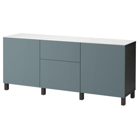 Комбинация для хранения с дверцами, ящиками БЕСТО артикуль № 192.447.72 в наличии. Онлайн каталог IKEA Минск. Недорогая доставка и монтаж.