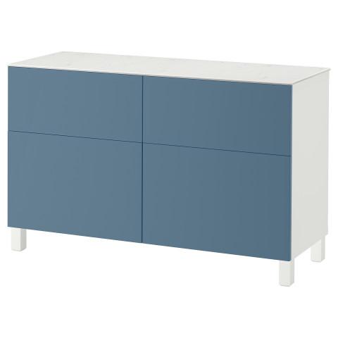 Комбинация для хранения с дверцами, ящиками БЕСТО темно-синий артикуль № 292.447.19 в наличии. Online каталог IKEA РБ. Недорогая доставка и установка.
