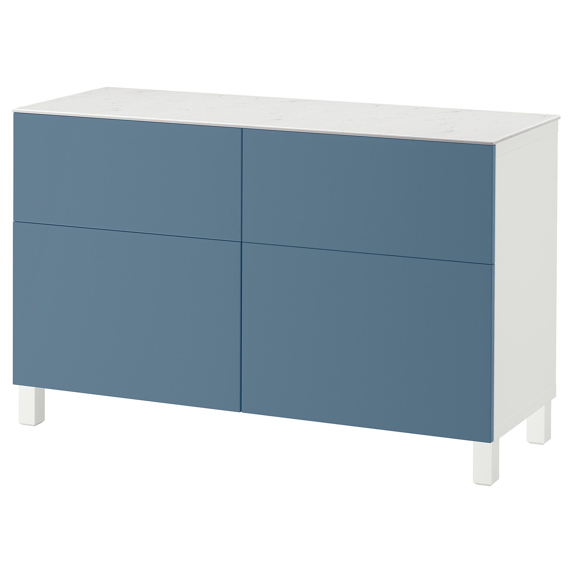 Комбинация для хранения с дверцами, ящиками БЕСТО темно-синий артикуль № 392.447.09 в наличии. Online сайт IKEA РБ. Недорогая доставка и монтаж.