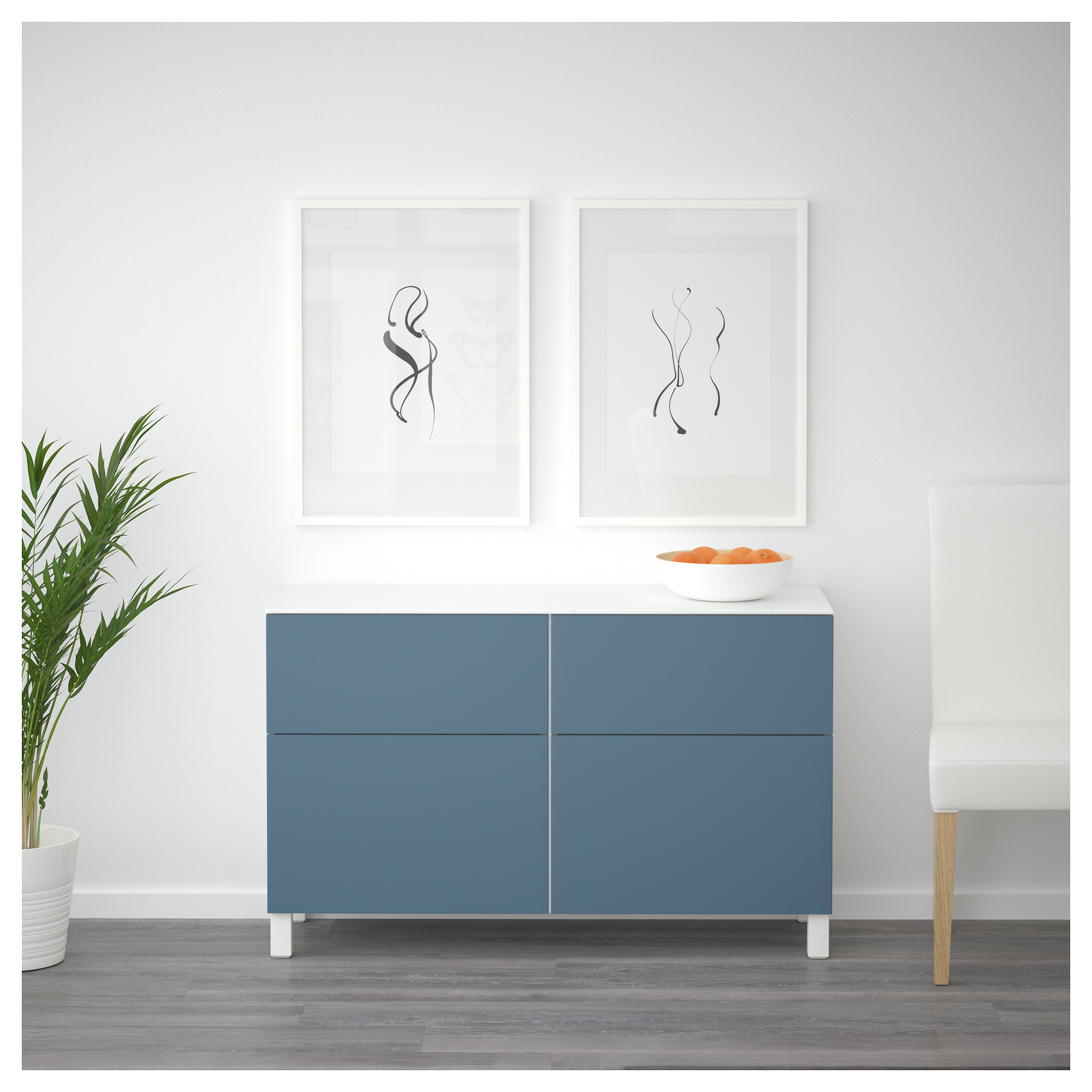 Комбинация для хранения с дверцами, ящиками БЕСТО темно-синий артикуль № 392.447.09 в наличии. Интернет магазин IKEA Минск. Недорогая доставка и установка.