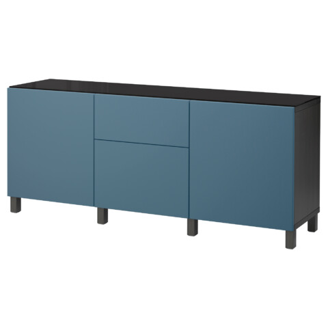 Комбинация для хранения с дверцами, ящиками БЕСТО темно-синий артикуль № 492.462.89 в наличии. Online каталог IKEA Беларусь. Быстрая доставка и установка.