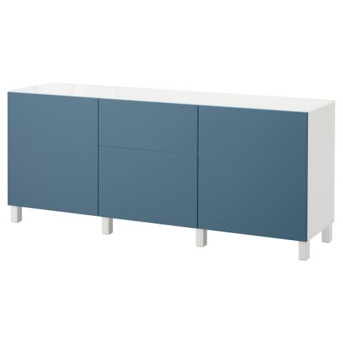 Комбинация для хранения с дверцами, ящиками БЕСТО темно-синий артикуль № 692.462.74 в наличии. Online магазин IKEA РБ. Недорогая доставка и установка.